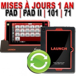 Mise à jour LAUNCH X431 PAD II & SCANPAD - 1 an