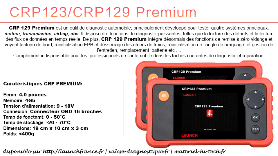 CRP129 PREMIUM officiel LAUNCH FRANCE